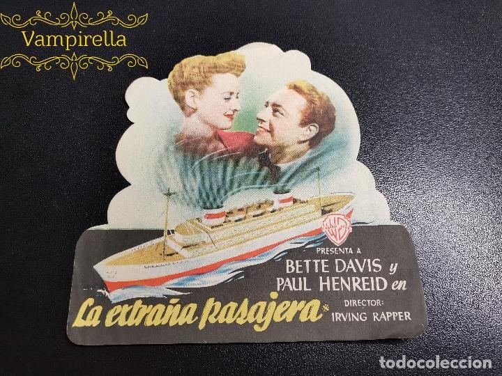 TROQUELADO LA EXTRAÑA PASAJERA--- CINE SARREAL 1948 TARRAGONA (Cine - Folletos de Mano - Clásico Español)