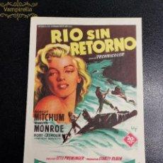 Cine: RIO SIN RETORNO MARILYN MONROE. Lote 195225080