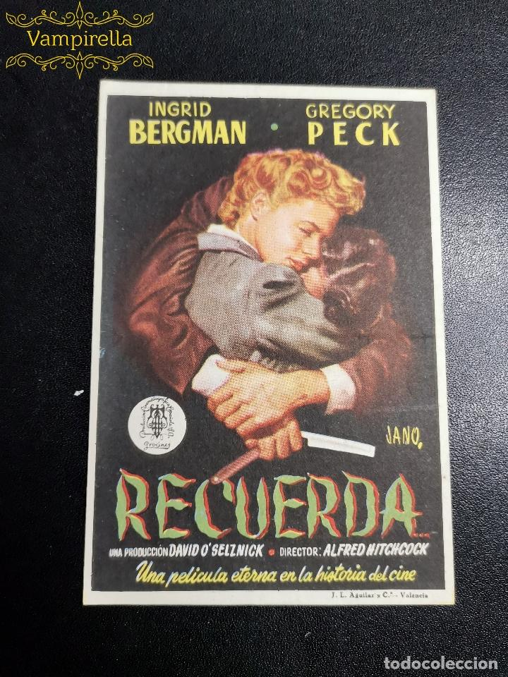 RECUERDA PROGRAMA SENCILLO PROCINES ALFRED HITCHCOCK INGRID BERGMAN CINE SARREAL 1953 TARRAGONA (Cine - Folletos de Mano - Clásico Español)