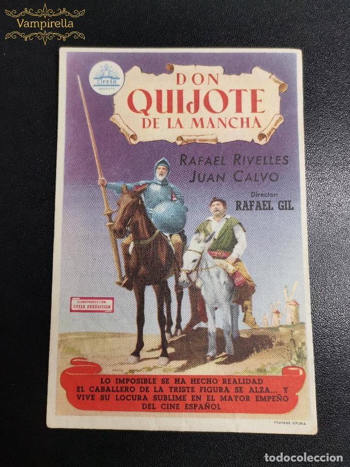 DON QUIJOTE DE LA MANCHA -- CINE SARREAL 1952 TARRAGONA (Cine - Folletos de Mano - Clásico Español)
