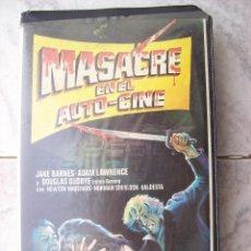 Cine: MASACRE EN EL AUTO CINE VHS. Lote 195237060