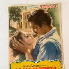 Cine: LO QUE EL VIENTO SE LLEVÓ (PROGRAMA DE MANO). Lote 195250518