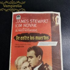 Cine: DE ENTRE LOS MUERTOS-VERTIGO---CINE PRINCIPAL SARREAL 1960 TARRAGONA. Lote 195260630