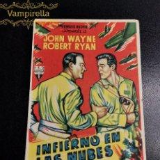Cine: INFIERNO EN LAS NUBES---CINE PRINCIPAL SARREAL 1956 TARRAGONA. Lote 195260816