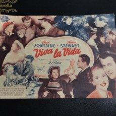 Cine: VIVA LA VIDA --CINE PRINCIPAL SARREAL 1952 TARRAGONA. Lote 195261446