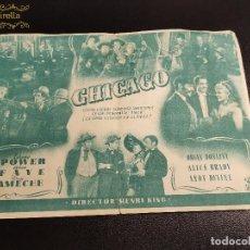 Cine: CHICAGO--CINE PRINCIPAL SARREAL 1945 TARRAGONA. Lote 195261971