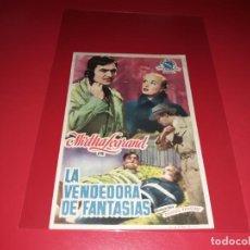 Cine: LA VENDEDORA DE FANTASIAS CON MIRTHA LEGRAND. PUBLICIDAD AL DORSO. AÑO 1950. Lote 195320328