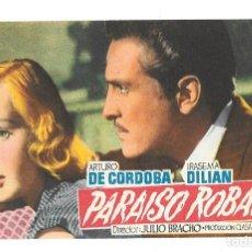 Cine: PARAISO ROBADO SP. Lote 195323897