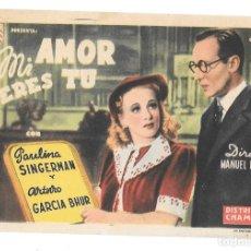Cine: MI AMOR ERES TU SP. Lote 195325346