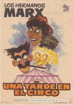 UNA TARDE EN EL CIRCO (CON PUBLICIDAD) (Cine - Folletos de Mano - Comedia)