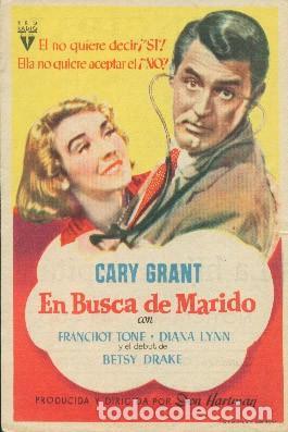 EN BUSCA DE MARIDO (CON PUBLICIDAD) (Cine - Folletos de Mano - Comedia)