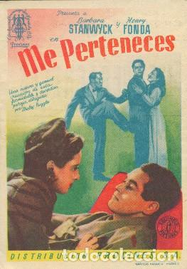 ME PERTENECES (CON PUBLICIDAD) (Cine - Folletos de Mano - Comedia)