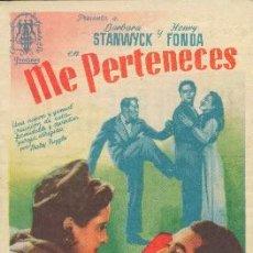 Cine: ME PERTENECES (CON PUBLICIDAD). Lote 195332850