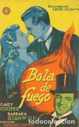 BOLA DE FUEGO (Cine - Folletos de Mano - Comedia)
