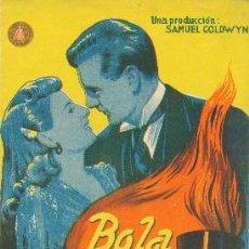 Cine: BOLA DE FUEGO. Lote 195333158