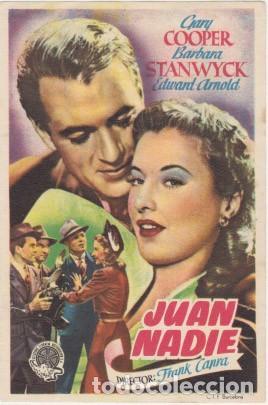 JUAN NADIE (Cine - Folletos de Mano - Comedia)