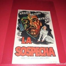 Cine: LA SOSPECHA. PUBLICIDAD AL DORSO. . Lote 195334121