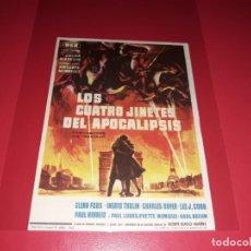 Cine: LOS CUATRO JINETES DEL APOCALIPSIOS CON GLENN FORD. PUBLICIDAD AL DORSO. AÑO 1962.. Lote 195336490
