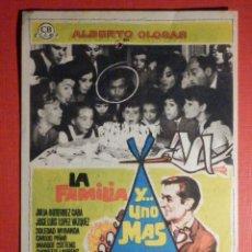 Cine: FOLLETO - PELÍCULA - FILM - LARGOMETRAJE - CINE - LA FAMILIA Y UNO MÁS CINEMA VICTORIA. Lote 195344965