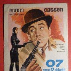 Cine: FOLLETO - PELÍCULA - FILM - LARGOMETRAJE - CINE - 07 CON EL 2 DELANTE - SIN PUBLI. Lote 195345035