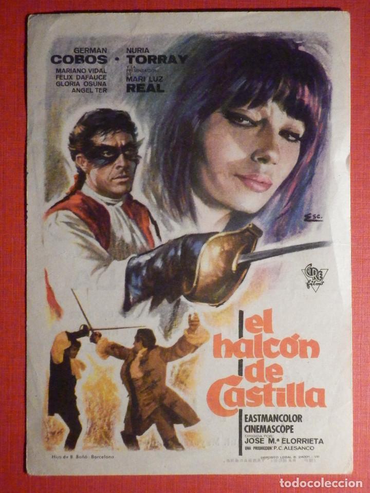 FOLLETO - PELÍCULA - FILM - LARGOMETRAJE - CINE - EL HALCÓN DE CASTILLA - COLISEUM (Cine - Folletos de Mano - Aventura)