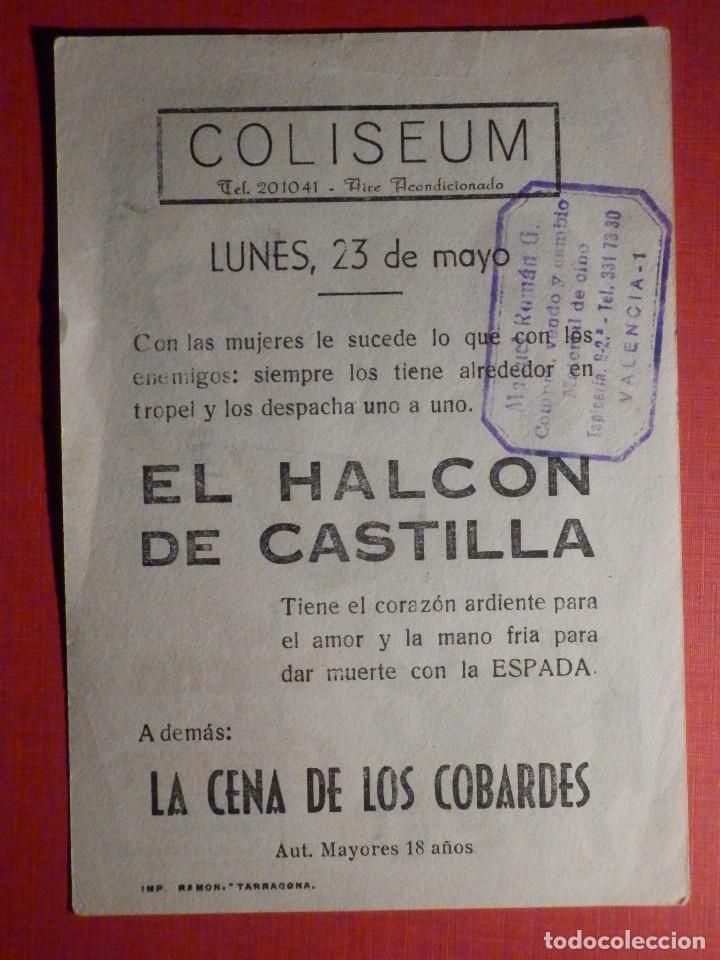 Cine: FOLLETO - PELÍCULA - FILM - LARGOMETRAJE - CINE - El halcón de Castilla - Coliseum - Foto 2 - 195345196