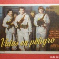 Cine: FOLLETO - PELÍCULA - FILM - LARGOMETRAJE - CINE - VIDAS EN PELIGRO - CINE ORIENTE - GERONA. Lote 195345620