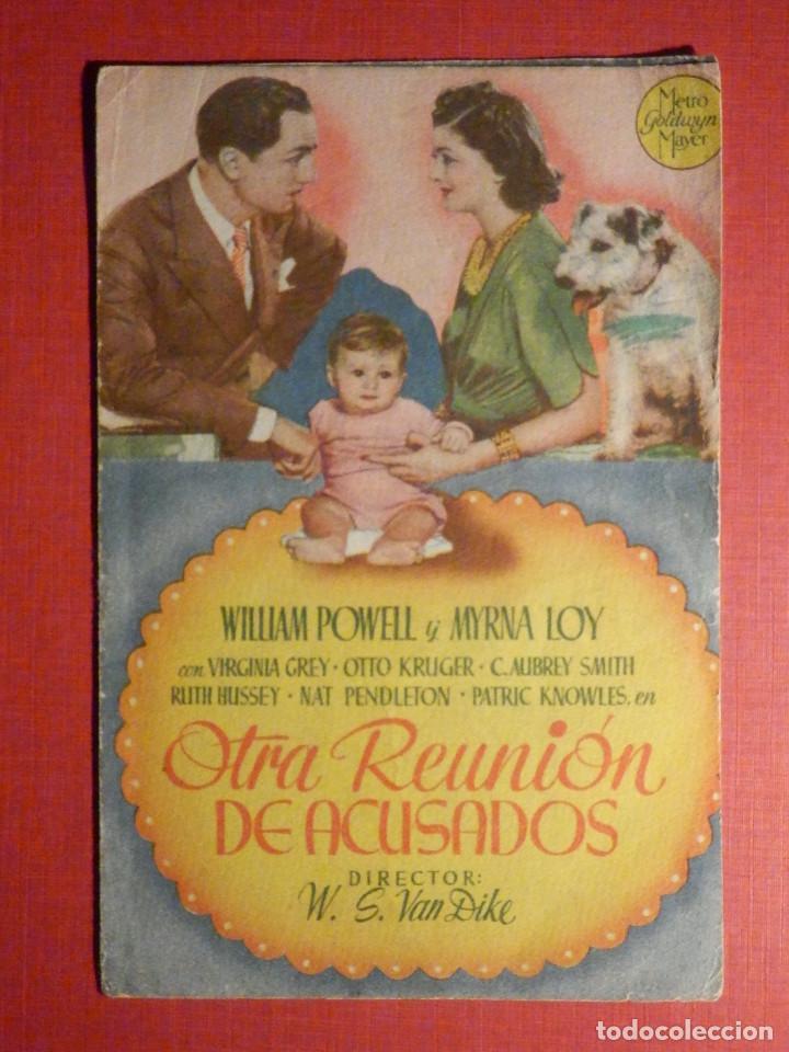 FOLLETO - PELÍCULA - FILM - LARGOMETRAJE - CINE - OTRA REUNIÓN DE ACUSADOS - DOBLE (Cine - Folletos de Mano - Aventura)