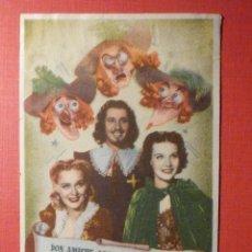 Cine: FOLLETO - PELÍCULA - FILM - LARGOMETRAJE - CINE - LOS TRES MOSQUITEROS - SIN PUBLI. Lote 195345723