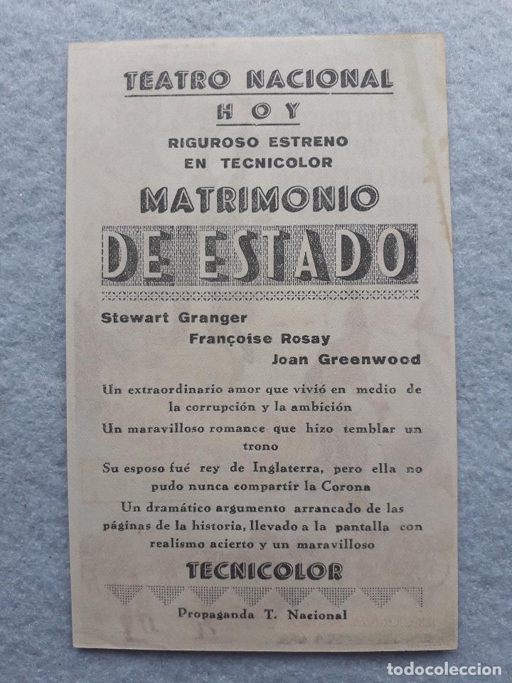 Cine: Matrimonio de Estado. Steward Granger, Françoise Rosay, Joan Greenwood, Flora Robson... - Foto 2 - 195367487