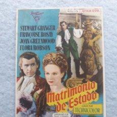 Cine: MATRIMONIO DE ESTADO. STEWARD GRANGER, FRANÇOISE ROSAY, JOAN GREENWOOD, FLORA ROBSON.... Lote 195367487