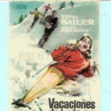Cine: FOLLETO DE MANO VACACIONES DE INVIERNO TONI SAILER PUBLICIDAD DE AVENIDA EN REUS 1961. Lote 195369375