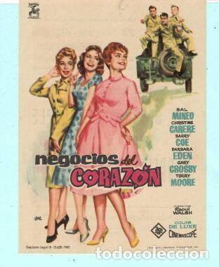 FOLLETO DE MANO NEGOCIOS DEL CORAZON SAL MINEO PUBLICIDAD DE AVENIDA EN REUS 1961 (Cine - Folletos de Mano - Comedia)