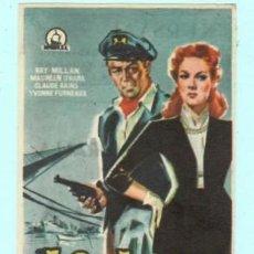 Cine: FOLLETO DE MANO LISBOA CON RAY MILLAN PUBLICIDAD DE KURSAAL REUS AÑO 1960. Lote 195380355