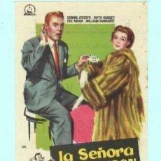 Cine: FOLLETO DE MANO LA SEÑORA QUIERE VISON CON DENNIS OKEEFE PUBLICIDAD DE KURSAAL REUS . Lote 195380906