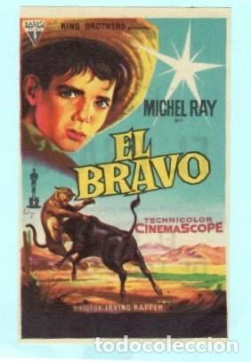 FOLLETO DE MANO EL BRAVO CON MICHEL RAY PUBLICIDAD DE KURSAAL REUS (Cine - Folletos de Mano - Comedia)