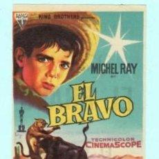 Cine: FOLLETO DE MANO EL BRAVO CON MICHEL RAY PUBLICIDAD DE KURSAAL REUS . Lote 195381238