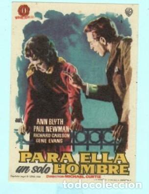 FOLLETO DE MANO PARA ELLA UN SOLO HOMBRE CON ANN BLYTH PUBLICIDAD DE KURSAAL REUS (Cine - Folletos de Mano - Comedia)