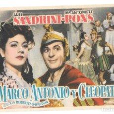 Cine: MARCO ANTONIO Y CLEO PATRA SP. Lote 195397361