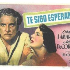 Cine: TE SIGO ESPERANDO SP. Lote 195397880
