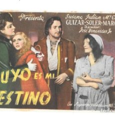 Cine: TUYO ES MI DESTINO SP. Lote 195398018