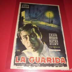 Cine: LA GUARIDA. PUBLICIDAD AL DORSO. . Lote 195431117