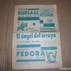 Cine: MAGNIFICO PROGRAMA DE CINE LOCAL GRAN KURSAAL MANRESA PELICULA EL ANGEL DEL ARROYO 1935. Lote 195445433