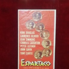 Cine: PROGRAMA DE MANO ESPARTACO CINES REX ZARAGOZA. Lote 195496018