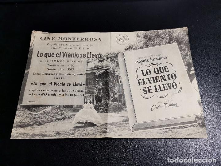 Cine: LO QUE EL VIENTO SE LLEVO -CINE MONTERROSA REUS TARRAGONA - Foto 3 - 195504265