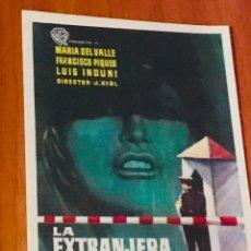 Cine: LA EXTRANJERA - PROGRAMA MANO SENCILLO - SIN PUBLICIDAD -. Lote 195506452