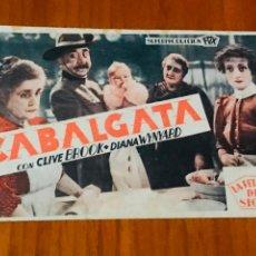 Cine: CABALGATA , TARJETA 1933 , ORIGINAL. Lote 195506586