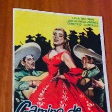 Cine: CAMINO DE GUANAJUATO PROGRAMA SENCILLO LOLA BELTRAN RAFAEL BALEDON. Lote 195506900