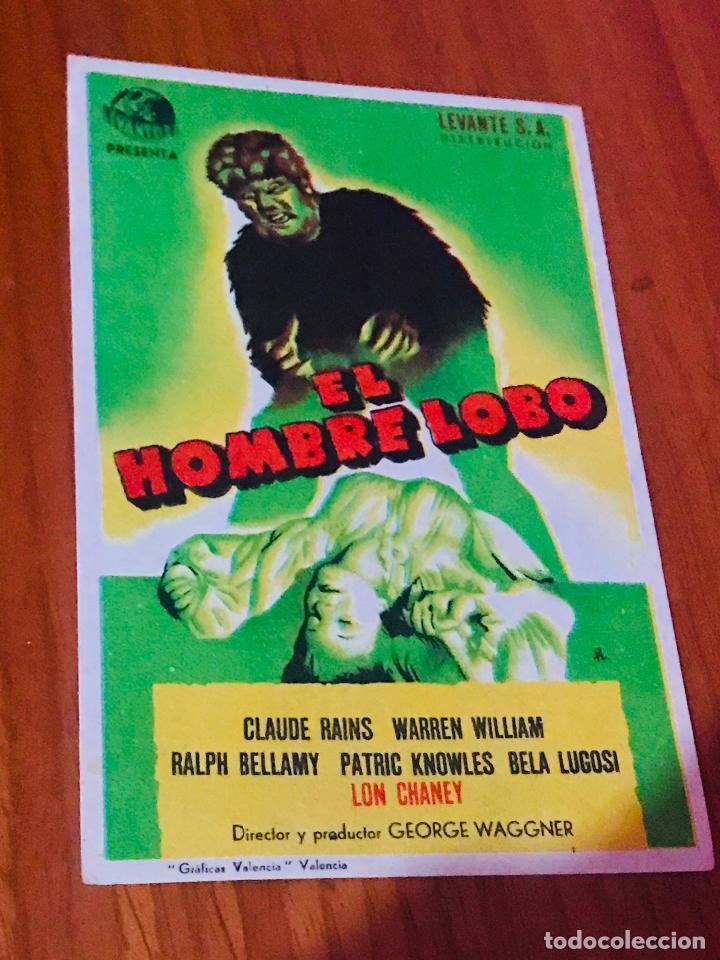 EL HOMBRE LOBO, CON BELA LUGOSI. (Cine - Folletos de Mano - Terror)