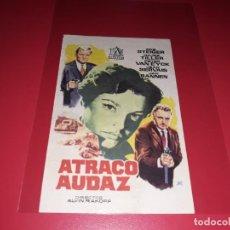 Cine: ATRACO AUDAZ. PUBLICIDAD AL DORSO. AÑO 1961.. Lote 195511235